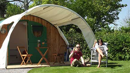 Two Night Camping Pod Break for Two in Somerset | Badgers ...